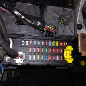 Jeep GC2.7 WJ CRD axle gear ratio change can bus filter installation fuse block